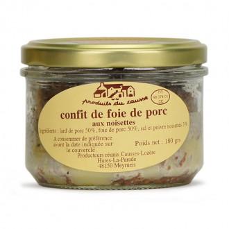 Confit de foie de porc aux noisettes