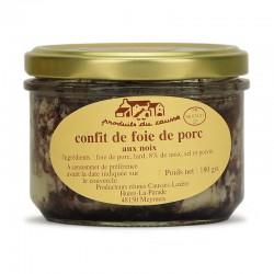 Confit de foie de porc aux noix