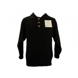 Pull col polo marron