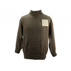 Pull col montant bouton